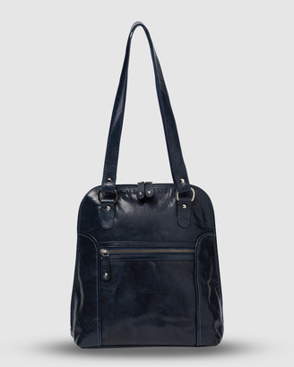 Cobb & Co - Women's Navy Leather bags - Poppy Leather 2 in 1 Convertible Backpack - Size One Size at The Iconic