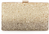 Neiman Marcus Ombre Glitter Box Evening Clutch Bag, Gold/Black