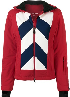 Perfect Moment Chevron Hooded Day Jacket