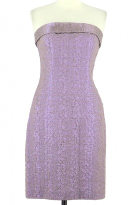 Georges Rech Purple Cotton Dress for Women