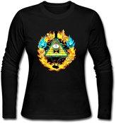 YWT Bill Cipher Gravity Falls Female T Shirts Pre-cotton Fashion Size L Color