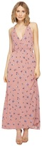 Brigitte Bailey Lejla Spaghetti Strap Floral Maxi Dress Women's Dress