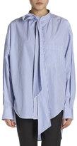 Balenciaga Striped Long-Sleeve New Swing Blouse