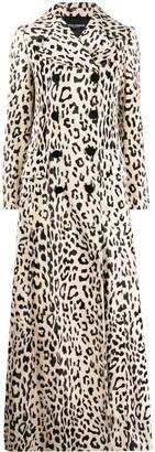 Dolce & Gabbana Leopard Print Faux Fur Coat