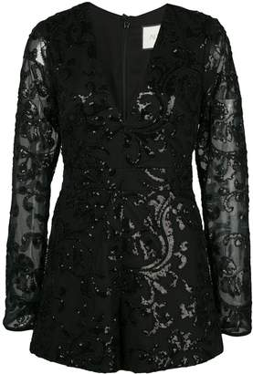 Alexis Riso embellished playsuit