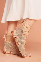 Bibi Lou Metallic Gladiator Sandals