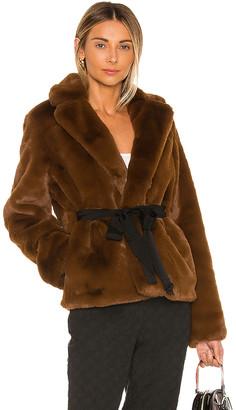 L'Academie The Macee Faux Fur Coat