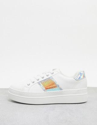 Aldo Starburst flatform sneaker with iridescent stripe