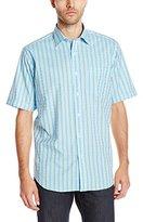 Bugatchi Men's Nucci Short Sleeve Classic Button Down Shirt
