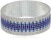 Anne Klein Silver-Tone Ombre Cuff Bracelet