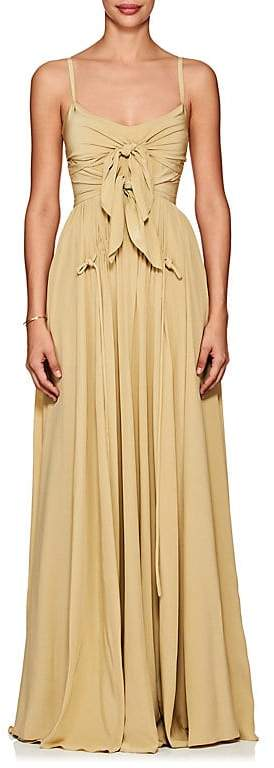 Derek Lam Women's Self-Knotted Silk Georgette Gown