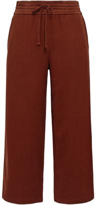 Vince Cropped Cotton-terry Wide-leg Pants