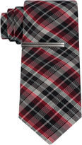 Jf J.Ferrar JF Formal Glitter Plaid Tie