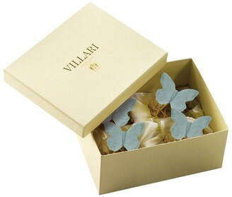VILLARI Gold Plated Butterfly Napkin Rings (Set of 4)