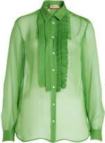 N°21 Pleated Silk Blouse