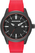 Skechers Mens Red and Black Double-Sided Silicone Strap Watch
