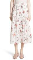 Rebecca Taylor Women's Marguerite Poplin Midi Skirt