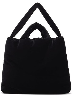 Kassl Editions Large Velvet Tote - Black