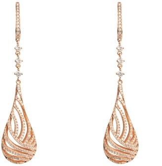 Latelita Glistening Dewdrop Earring Rose Gold
