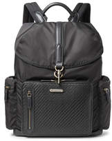 Ermenegildo Zegna Shell and Pelle Tesutta Leather Backpack