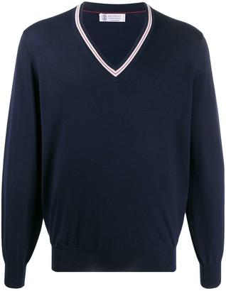 Brunello Cucinelli regular-fit V-neck pullover