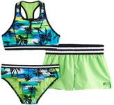 ZeroXposur Girls 7-16 Palm Print 3-pc. Bikini Set