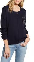 Rails Stafford Patch Detail Cotton & Cashmere Sweater