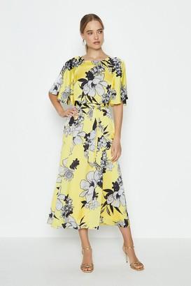 Coast Fluted Sleeve Midi Dress
