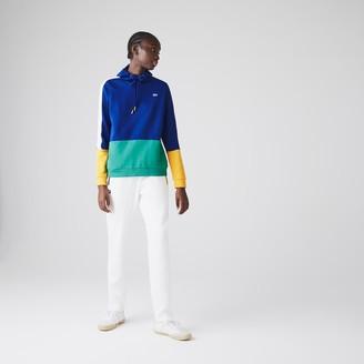 Lacoste Women's SPORT Hooded Colorblock Fleece Tennis Sweatshirt