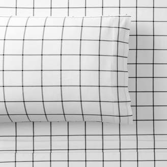 Pottery Barn Teen Boxter Plaid Sheet Sets, Twin/Twin XL, Navy/White