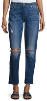 7 For All Mankind Josefina Distressed Slim Boyfriend Jeans, Indigo