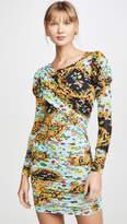 Versace Puff Sleeve Mini Dress