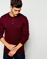 French Connection Long Sleeve Knit Jumper - Red