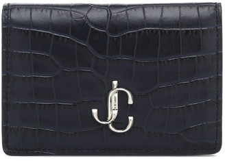 Jimmy Choo Myah croc-effect leather wallet