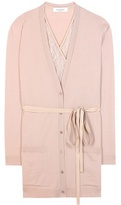 Valentino Virgin wool cardigan with lace