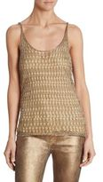 Ralph Lauren Metallic Crochet Tank Top