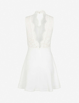 Claudie Pierlot Romeo lace crepe mini dress