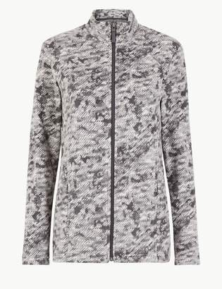 M&S CollectionMarks and Spencer Panelled Printed Fleece Jacket