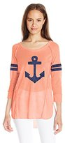 Almost Famous Women's 3/4 Sleeve Top with Embellishment