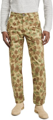 Naked & Famous Denim Double Sided Camo Work Trousers