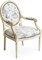 Massoud Furniture Dash Armchair, Black Toile