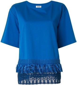 Coohem short sleeve knit detail T-shirt