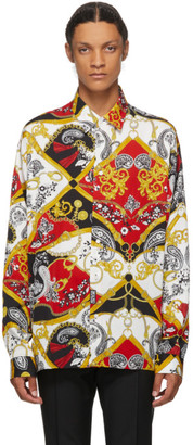 Versace Red Paisley Fantasy Shirt