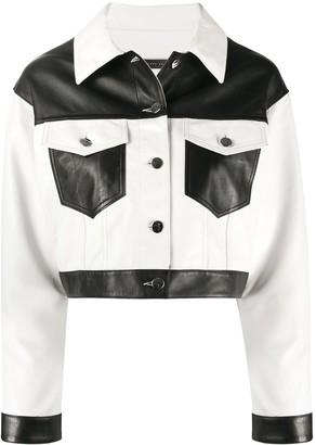 Giuseppe Zanotti Cropped Colour Block Jacket