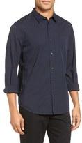 Vince Men's Trim Fit Garment Washed Sport Shirt