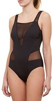 Kenneth Cole New York Women's Sexy Solids High Leg Mio One Piece Swimsuit