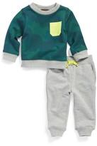 Tea Collection Infant Boy's Inverness Camo Print Sweatshirt & Jogger Pants Set