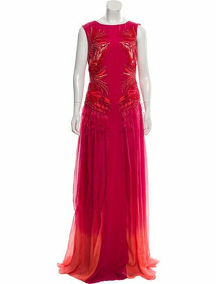 Matthew Williamson Embellished Gown Pink