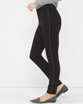 White House Black Market Ponte Novelty Chain Detail Leggings