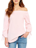 Free People Off-the-Shoulder Poplin Tunic